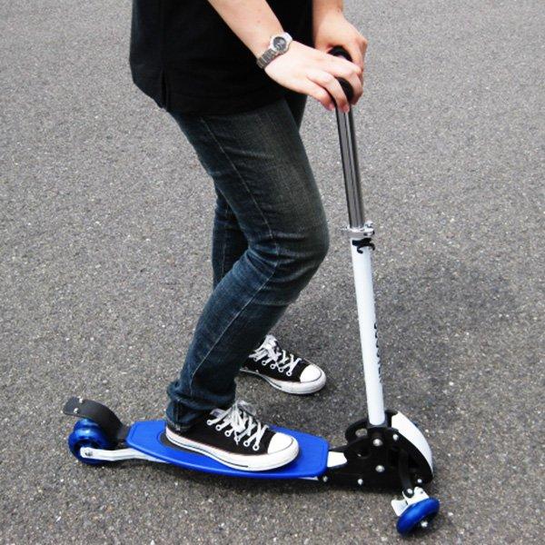 画像1: キックスクーター キックボード 3輪キックボード キックスケーター ブレーキ付き スケートボード サーフィン スノーボード 送料無料 お宝プライス ###スケートボード016### (1)
