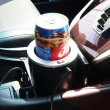 画像1: ドリンクホルダー 車 保冷 保温 ポータブル 車載 温冷 ドリンククーラー ウォーマークーラー 飲み物 カー用品 車載用品 夏 冬 送料無料 お宝プライス ###ホルダーPT-301### (1)
